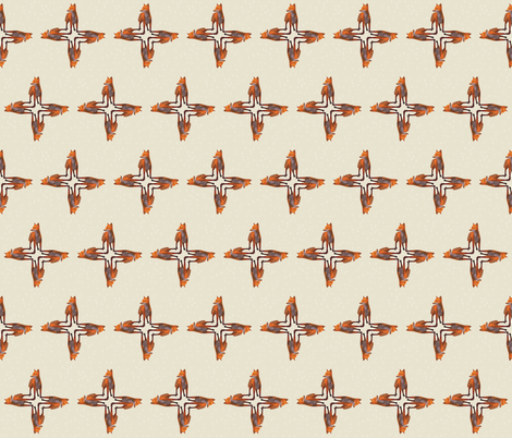 Standing Fox Design, S fabric by animotaxis on Spoonflower - custom fabric