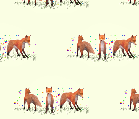 Playing Foxes, L fabric by animotaxis on Spoonflower - custom fabric