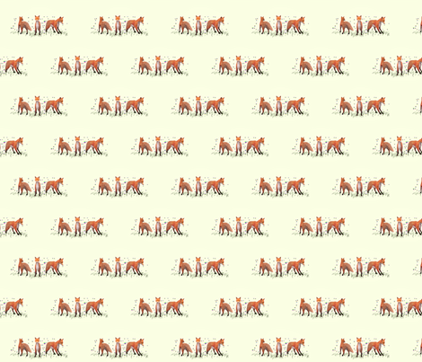 Playing Foxes, S fabric by animotaxis on Spoonflower - custom fabric