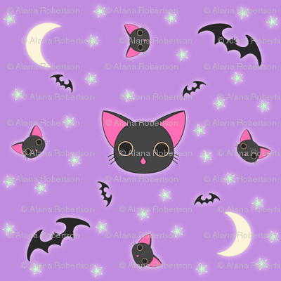 Kawaii Kitty n Bats