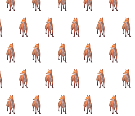 Alert Red Fox, L fabric by animotaxis on Spoonflower - custom fabric