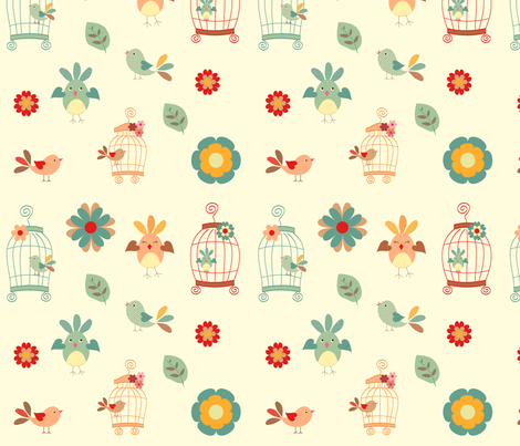 Springtime fabric by anikabee on Spoonflower - custom fabric