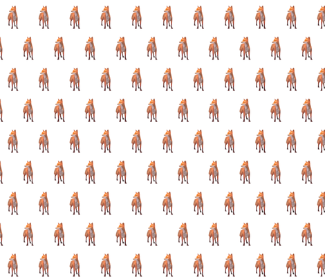 Alert Red Fox, S fabric by animotaxis on Spoonflower - custom fabric