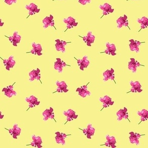 Unforgettable rose ditsy print -- on yellow