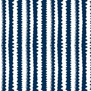 Abstract stripes -- navy blue and white