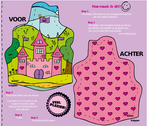 Princess castle Ready to sew fabric by samvanvoorst on Spoonflower - custom fabric