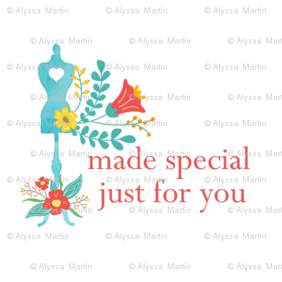 Made Special Just For YOU Handmade Tag