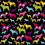 french bulldog fabric