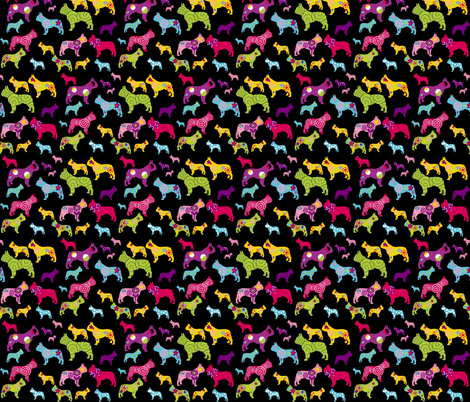 french bulldog fabric fabric by lil_creatures on Spoonflower - custom fabric