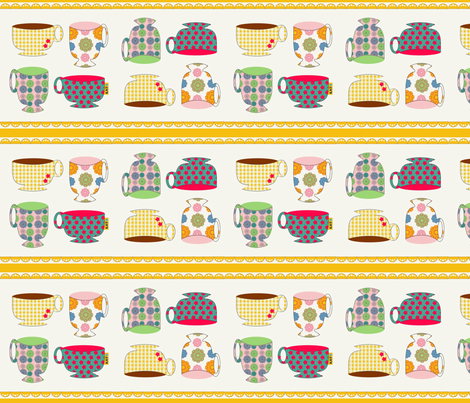 border- cups fabric by kato_kato on Spoonflower - custom fabric