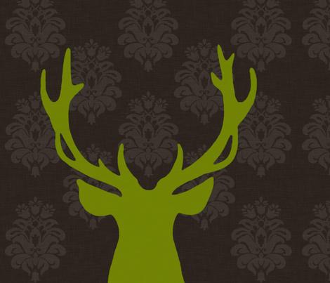 green deer fabric by nattnattura on Spoonflower - custom fabric