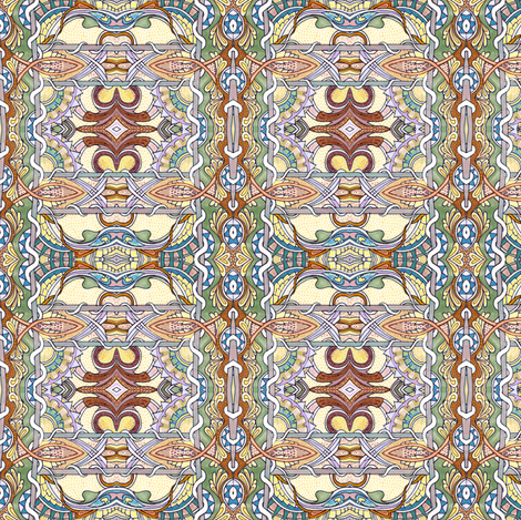 Boxes of the Middle Ages fabric by edsel2084 on Spoonflower - custom fabric