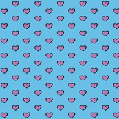 Blue and Purple hearts design