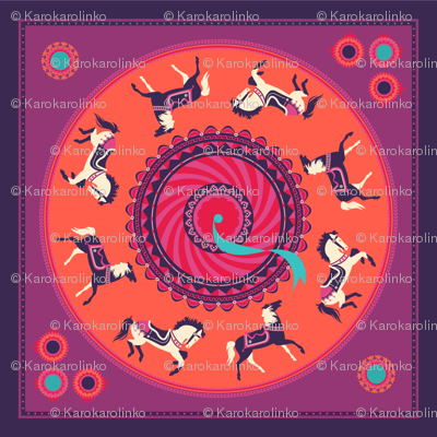 carousel scarf