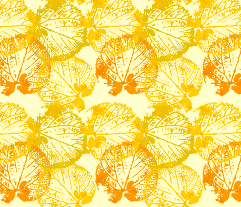seamless watercolour/vector leaves fabric by anastasiia-ku on Spoonflower - custom fabric