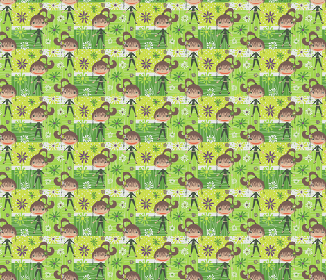 Beatnik Girl fabric by happyjonestextiles on Spoonflower - custom fabric