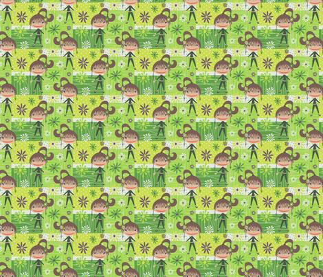 Beatnik Girl fabric by happyjonestextiles on Spoonflower - custom fabric