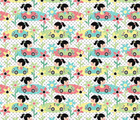 Cutie Driver fabric by mktextile on Spoonflower - custom fabric