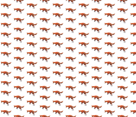 Red Fox Leaping, S fabric by animotaxis on Spoonflower - custom fabric