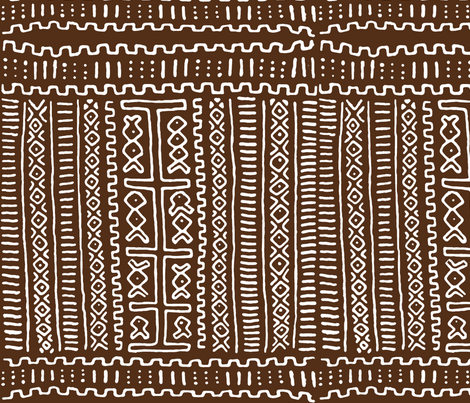 Mudcloth Dark Brown fabric by saytoons on Spoonflower - custom fabric