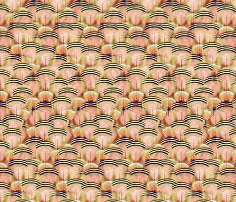 woodduck peach fabric by glimmericks on Spoonflower - custom fabric