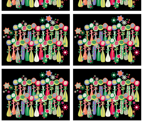 Flower Vase Portrait fabric by mktextile on Spoonflower - custom fabric