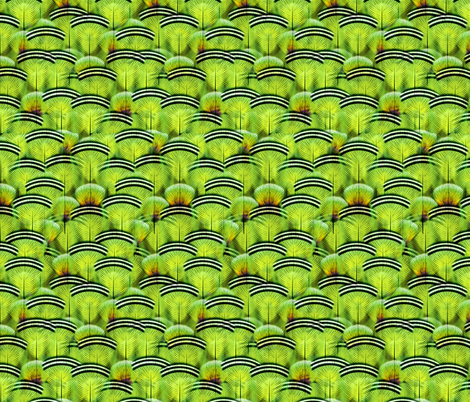 woodduck lime fabric by glimmericks on Spoonflower - custom fabric