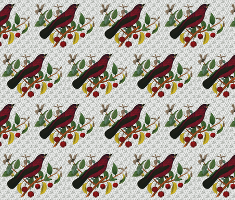 Vintage Bird  fabric by icarpediem_ on Spoonflower - custom fabric