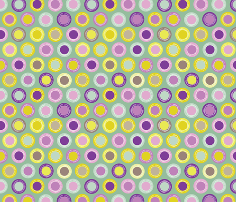 Flowers multi - aubergine fabric by kayajoy on Spoonflower - custom fabric