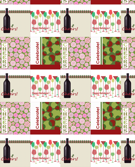 wine tote patterns fabric by littlerhodydesign on Spoonflower - custom fabric