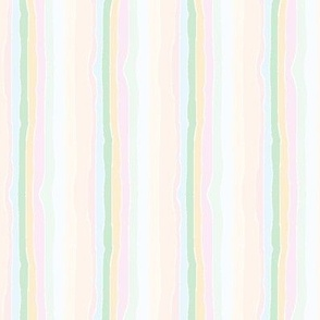 Saturated hand-drawn stripes on white