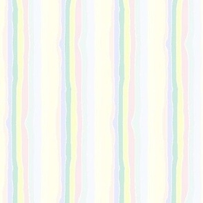 Hand-drawn stripes on white -- yellows dominant