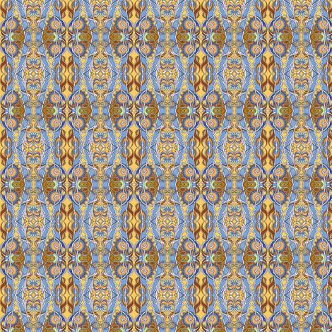 Zig Zag Autumn Garden vertical stripe fabric by edsel2084 on Spoonflower - custom fabric