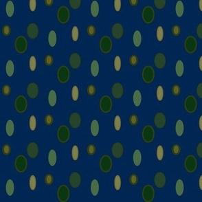 Autumn raindrops -- on blue