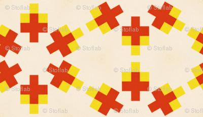 Retro Colorful Crosses