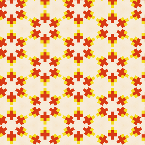 Retro Colorful Crosses fabric by stoflab on Spoonflower - custom fabric