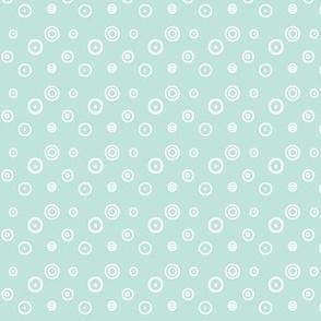 Ditsy dots on mint