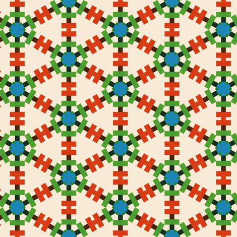 Retro Colorful Grid fabric by stoflab on Spoonflower - custom fabric