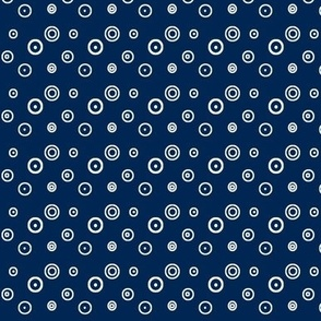 Ditsy dots and spots on navy