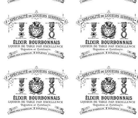 French Elixir Lable fabric by adeline_country_cottage on Spoonflower - custom fabric