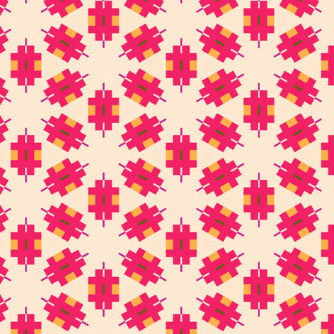 Retro Pink fabric by stoflab on Spoonflower - custom fabric