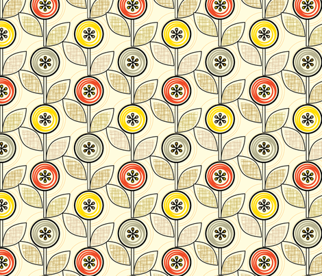 Footnote Flower (Hatch) fabric by pennycandy on Spoonflower - custom fabric