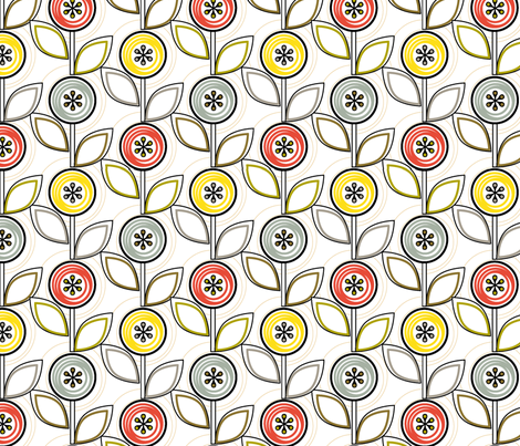 Footnote Flower (Ruled) fabric by pennycandy on Spoonflower - custom fabric