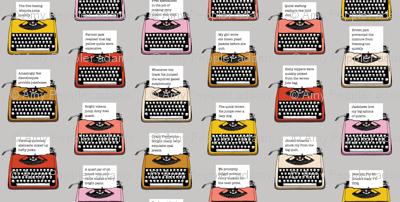 Pangram Typewriters* (Silkscreen) || vintage retro typewriters text typography poetry geek office