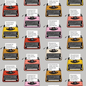 Pangram Typewriters* (Silkscreen)