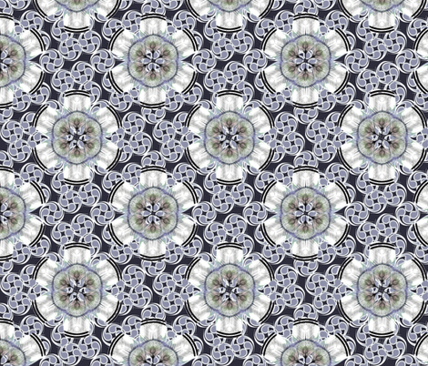 woodduck_rosettes frosted midnight fabric by glimmericks on Spoonflower - custom fabric