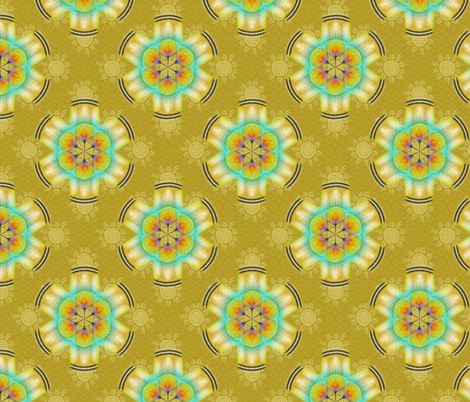 woodduck_rosettes corn fabric by glimmericks on Spoonflower - custom fabric