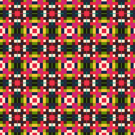 Colorful Mosaic fabric by stoflab on Spoonflower - custom fabric