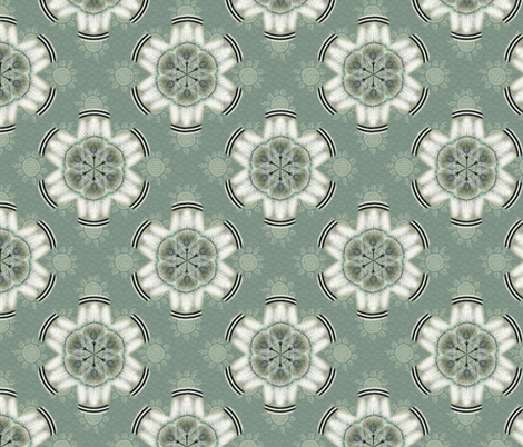 woodduck_rosettes spruce fabric by glimmericks on Spoonflower - custom fabric