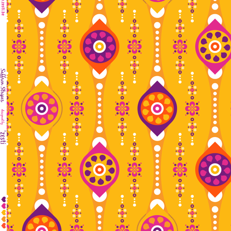 Saffron stripes fabric by zesti on Spoonflower - custom fabric